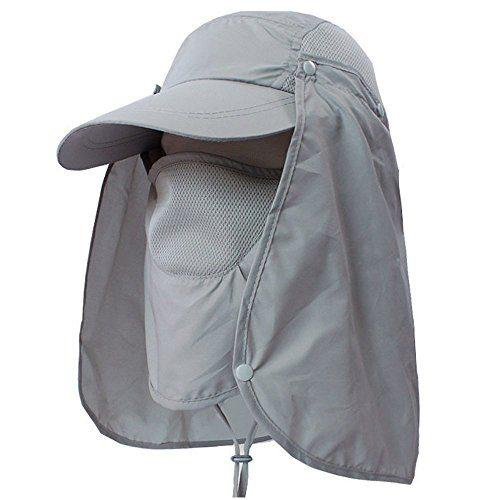 LC-dolida Fishing Hat 360°UV Protection Sun Hat 64364d883a30