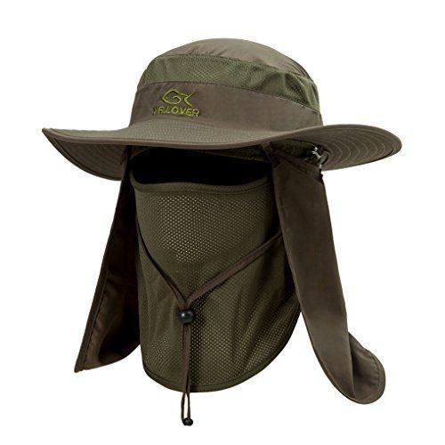 8dfcb0e7dd117 Lover Outdoor UV Sun Protection Wide Brim Fishing Cap -Men and Women Face